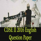CDSE Question Paper [2 2016 English Original Questions]