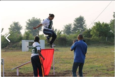 Candidates practicing obstacles at AFPA Nagpur