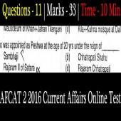 Online AFCAT 2 2016 Current Affairs Question Paper
