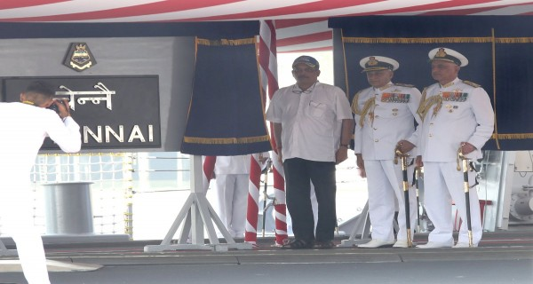 Indian Defence Minister Manohar Parrikar Commissioning INS Chennai