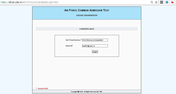AFCAT Mock test link
