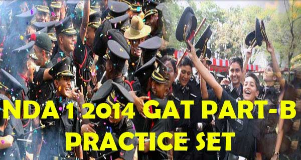 Online NDA 1 2014 GAT Part B Question Paper Practice Set