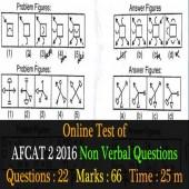 AFCAT 2 2106 Non Verbal Question paper for online practice