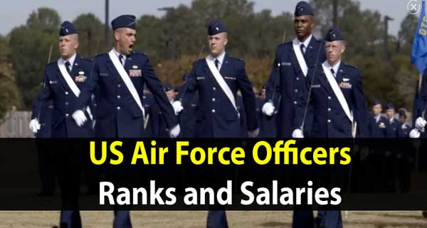 Ranks and salaries of US Air Force Officers
