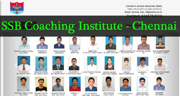 SSB Coaching Institute - Chennai
