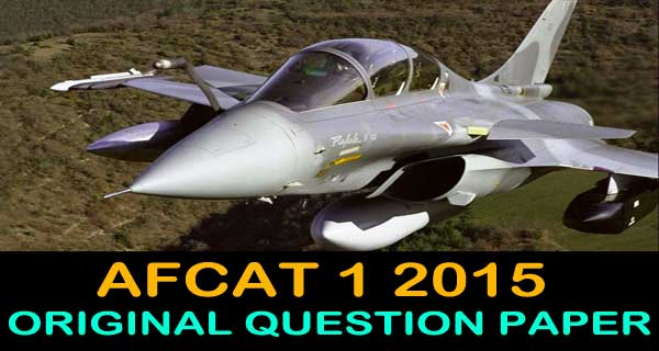 AFCAT 1 2015 question paper with key