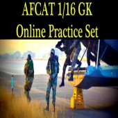 Online practice set of GK Question of AFCAT 1 2016
