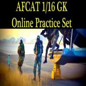 Online practice set of GK Question of AFCAT 1 2016