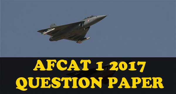 AFCAT 1 2017 question paper and answer key