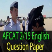 AFCAT 2 2015 English Question Paper Online Practice