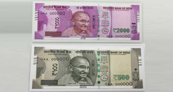 New currency notes of 500 and 1000 rupees of India