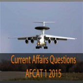AFCAT 1 2015 Current Affairs question paper