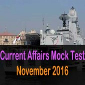 Mock test of November 2016 current affairs