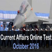 Mock test on October 2016 current affairs