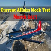 Current Affairs Online Mock Test - March 2017