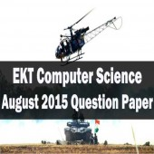 EKT Computer Science August 2015 question paper