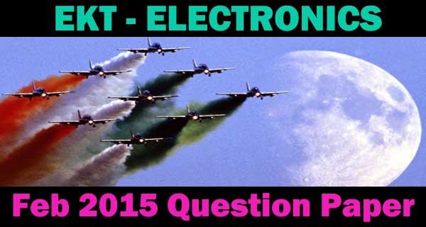 EKT EEE Feb 2016 question paper