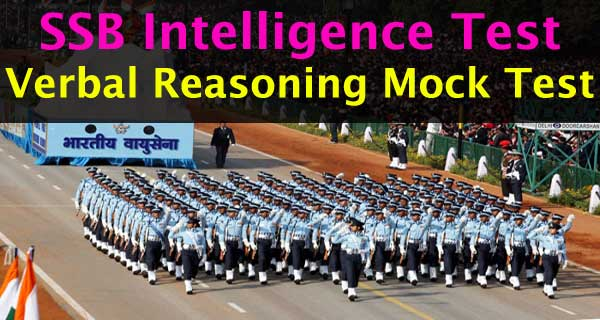 SSB Intelligence Test Preparation and practice Mock Test