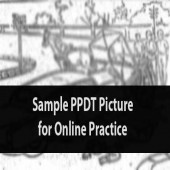 Practice story writing on sample PPDT picture