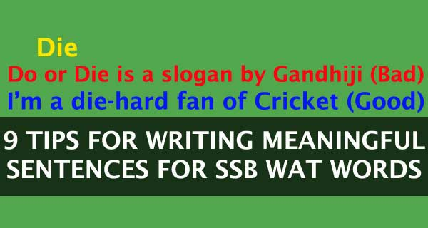 9 Tips for SSB Word Association Test (WAT)