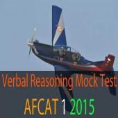 AFCAT 1 2015 Verbal Reasoning Questions Online Mock Test