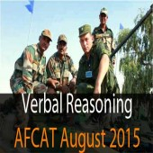 Verbal Reasoning Questions of AFCAT August 2015 for practice